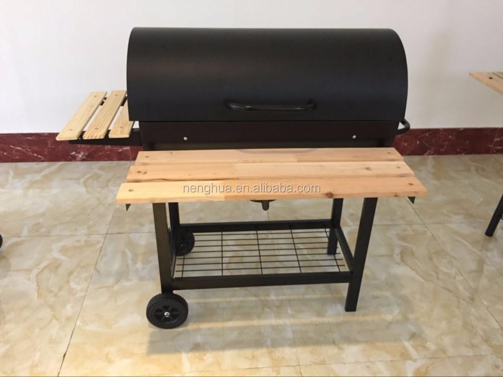 Germania cortile offset fumatore barbecue del carbone di legna