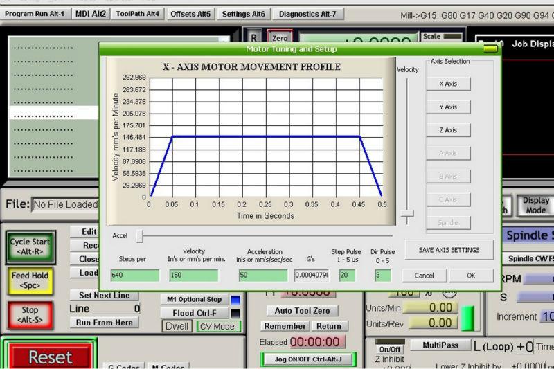Mach3 cnc software stepper motor | Mach 3 Motor Tuning Quick