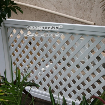 Fencemaster Pvc Lattice Garden Fence