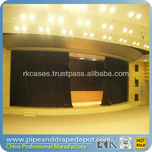 Remote control motorized curtain rail system double curtain rod and rail