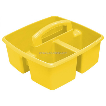 popular yellow 6pk classroom art and supplies caddy 3 compartments