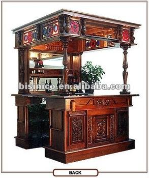 Luxury wooden bar table hand carving bar set bar furniture for Fotos de bares de madera