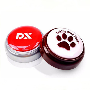 Logo customized recordable push programmable sound buzzer push button for playing games