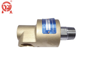 BSP NPT thread brass pipe cooling rotary joint water rotating