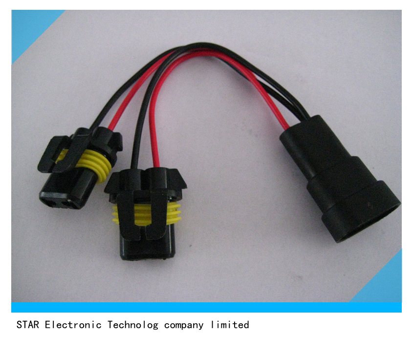 9006 Male Female H11 H7 Connector HID Kit Cable Manufacturer