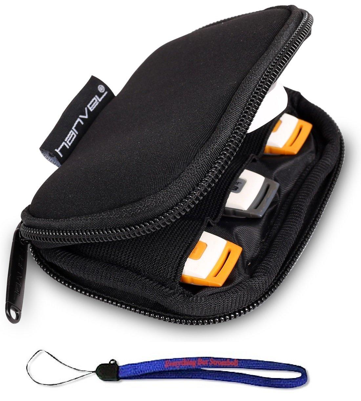 Nylon Fabric Storage Holder/Wallet/Case/Bag/Organizer for USB Flash Drives/Thumb Drives/Pen Drives/Jump Drives W/ Everything But Stromboli (tm) Lanyard