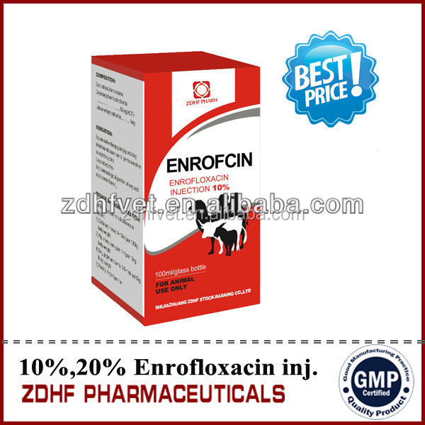 Enrofloxacin oral solution cure Chronic Respiratory Disease medicne in Veterinary medicine for poultry farming