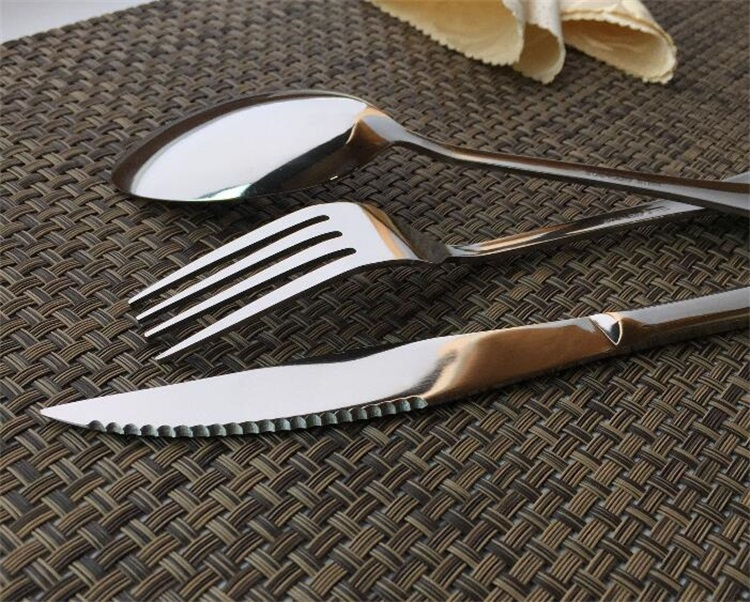 Cutlery set stainless steel matte gold cutlery black cutlery set