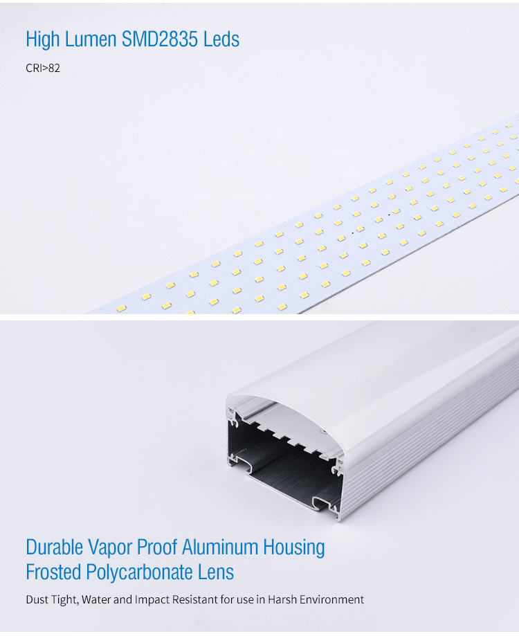 Led tri-proof 4ft 8ft 40W 60w 120W IP65 IP66 water-proof, dust-proof, pressure-proof industrial led lighting