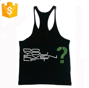 Mens Cotton Tank Top Gym Vest Bodybuilding Tank Top Gym Singlets