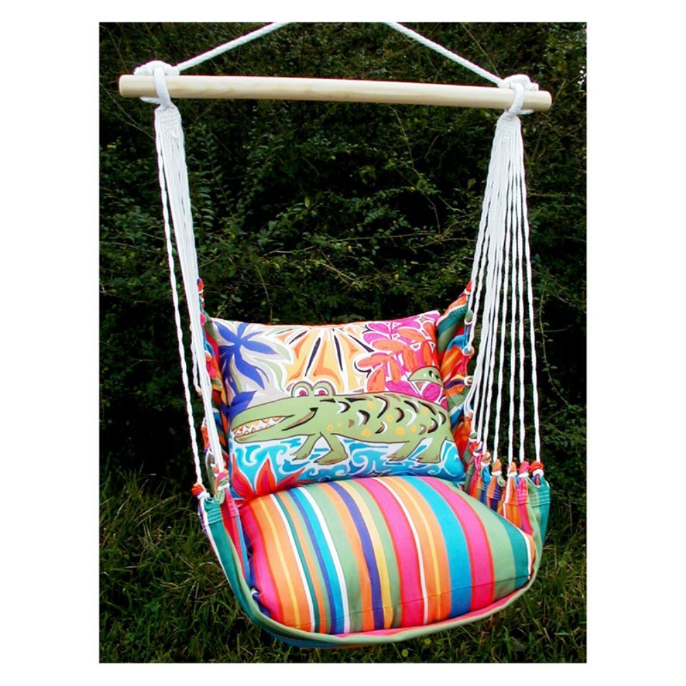 Magnolia Casual Glad Gator Hammock Chair and Pillow Set