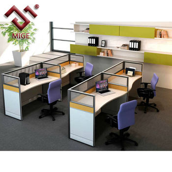 Free Standing Cubicles Dual Modern Office Parion Workstation