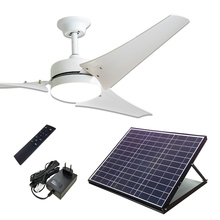 60 Inch 40W Solar Powered Ceiling Cool Fan with Adapter
