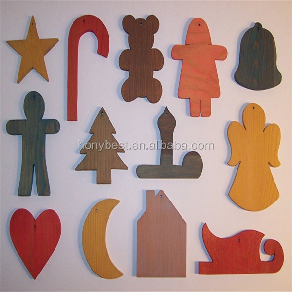 Christmas Decorations 3d Shapes Ks2 : D painted wooden christmas ornaments wall hanging wood