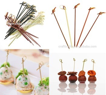 Best Price Bamboo Crafts Decorative Bamboo Food Picks with Braided