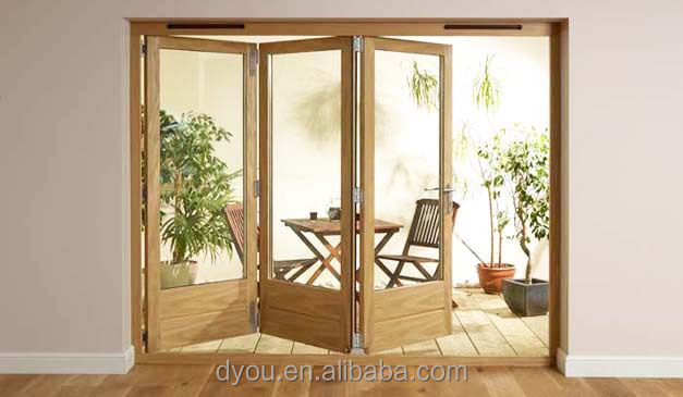 High quality well aluminium frameless glass folding door for French accordion doors