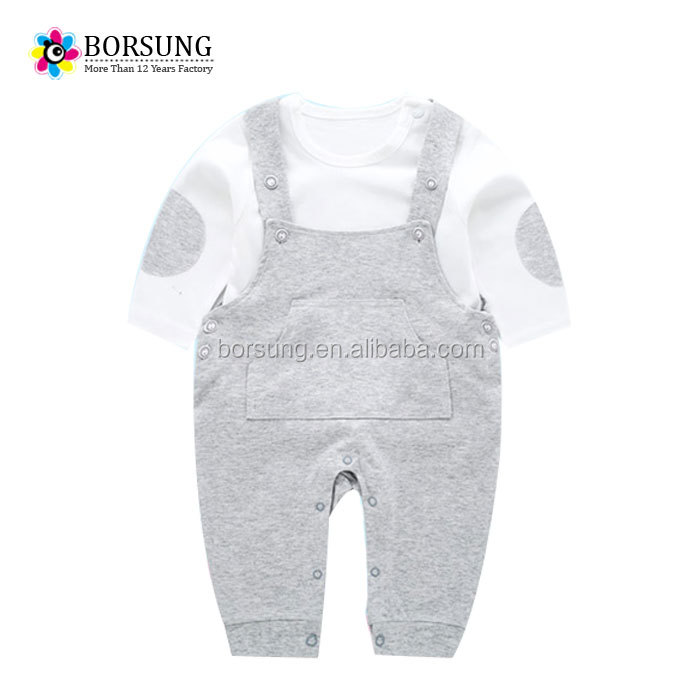 100% cotton baby romper fashion 2 pcs new born baby gift suits for baby clothes