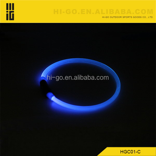 Wholesale Silicone Rechargeable Flashing Light Led Pet Collar