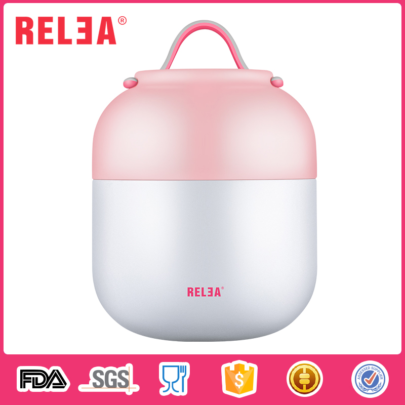 RELEA double wall stainless steel food jar thermos hot food flask lunch box for kids