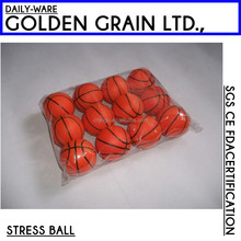 PU stress ball/ promotional basket shape stress ball