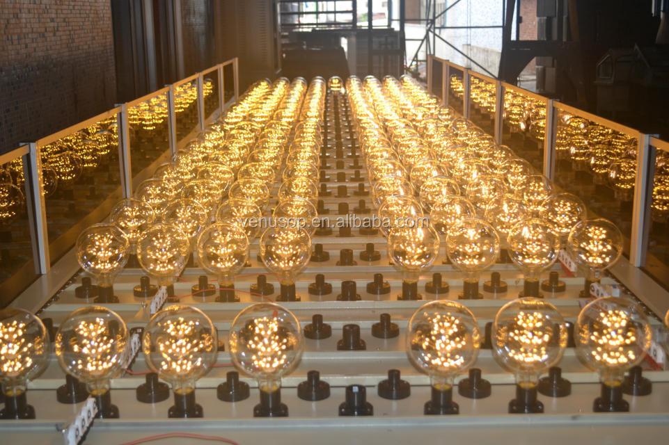 Etl 2200k Amber Shell G40 Led Bulb Long Filament Dimmable Led G125 ...