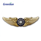 Pin Wings Metal Badge Factory Cheap Custom Hard Nurse Kpop Military Anime Button Soft Metal Lapel Enamel Pin Wings Badge
