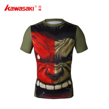 Cheap custom made sublimation printed shorts sleeve rashguard men fitness gym sports compression t-shirts