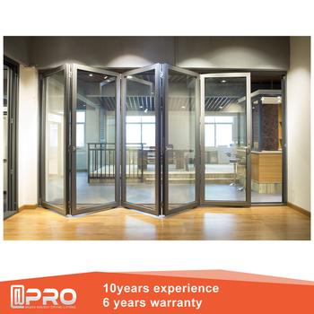 New Design Soundproof Arched Bifold Doors Exterior Bifold Door