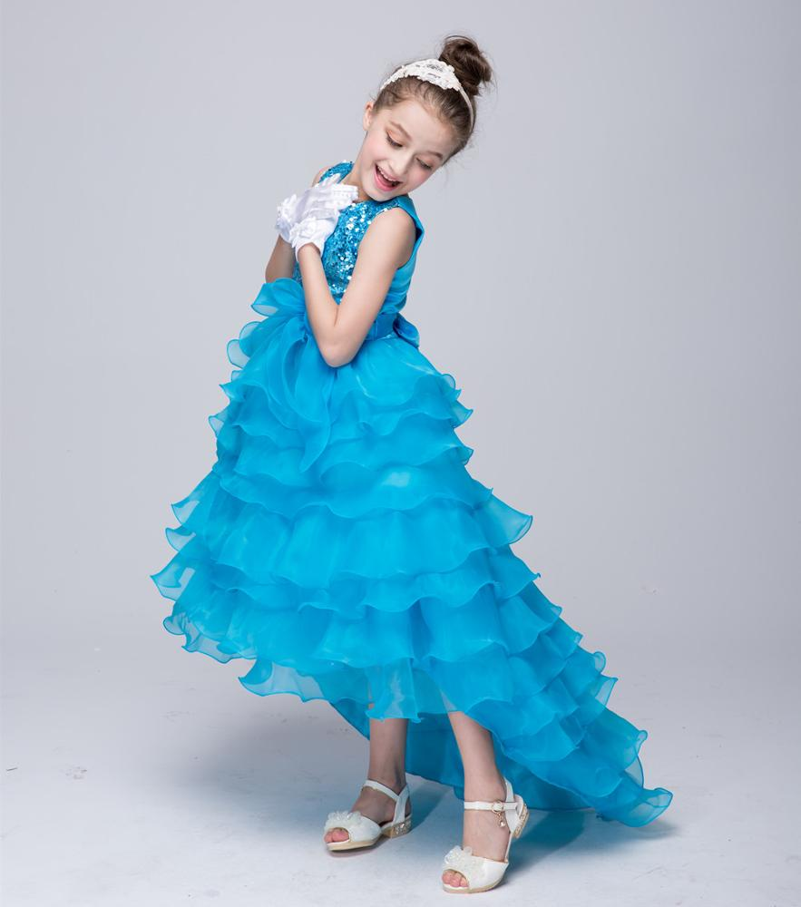 Kids Girls Evening Dresses Sequin Designs Wedding Party Tutu Dress ...