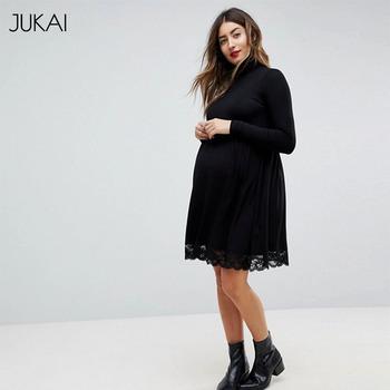 Ankara Black Long Sleeve Lace Maternity Dress Patterns Of Lace