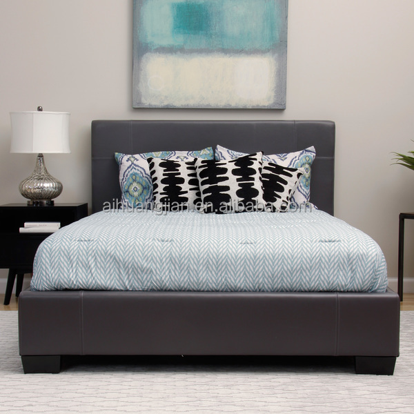Beautiful Very Low Bed Part - 10: UK Pu Leather Bed, Very Low Price Cheap PU Leather Bed Frame FOR UK,