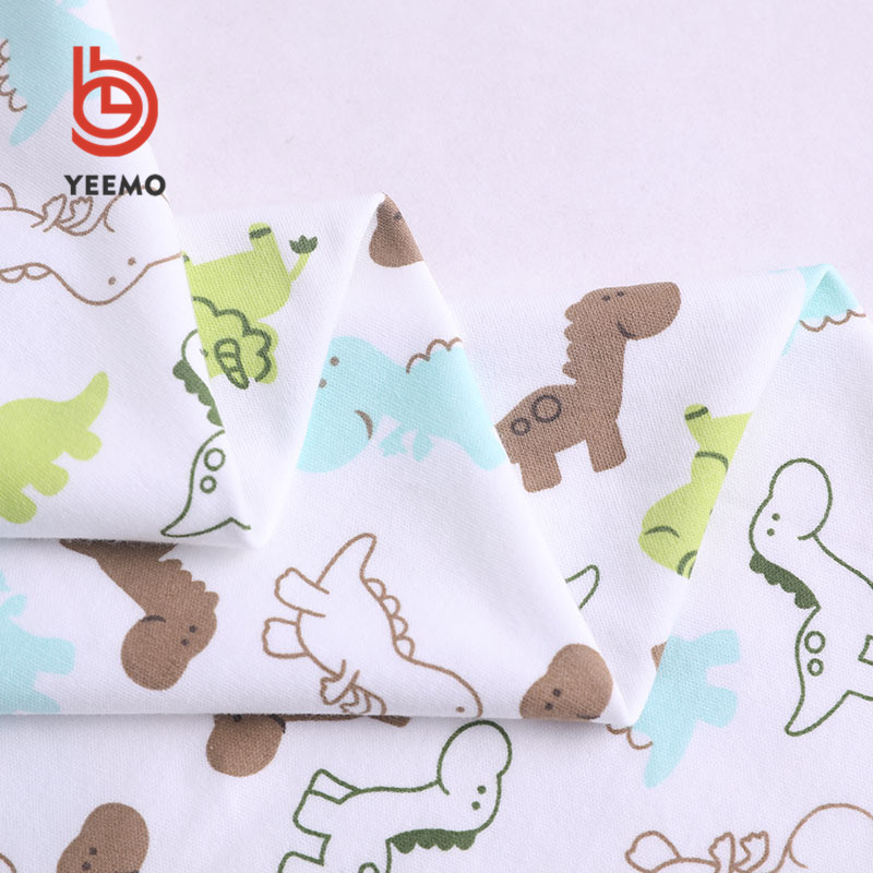 Yeemo textile good quality baby print 100% <strong>cotton</strong> composition <strong>interlock</strong> fabric