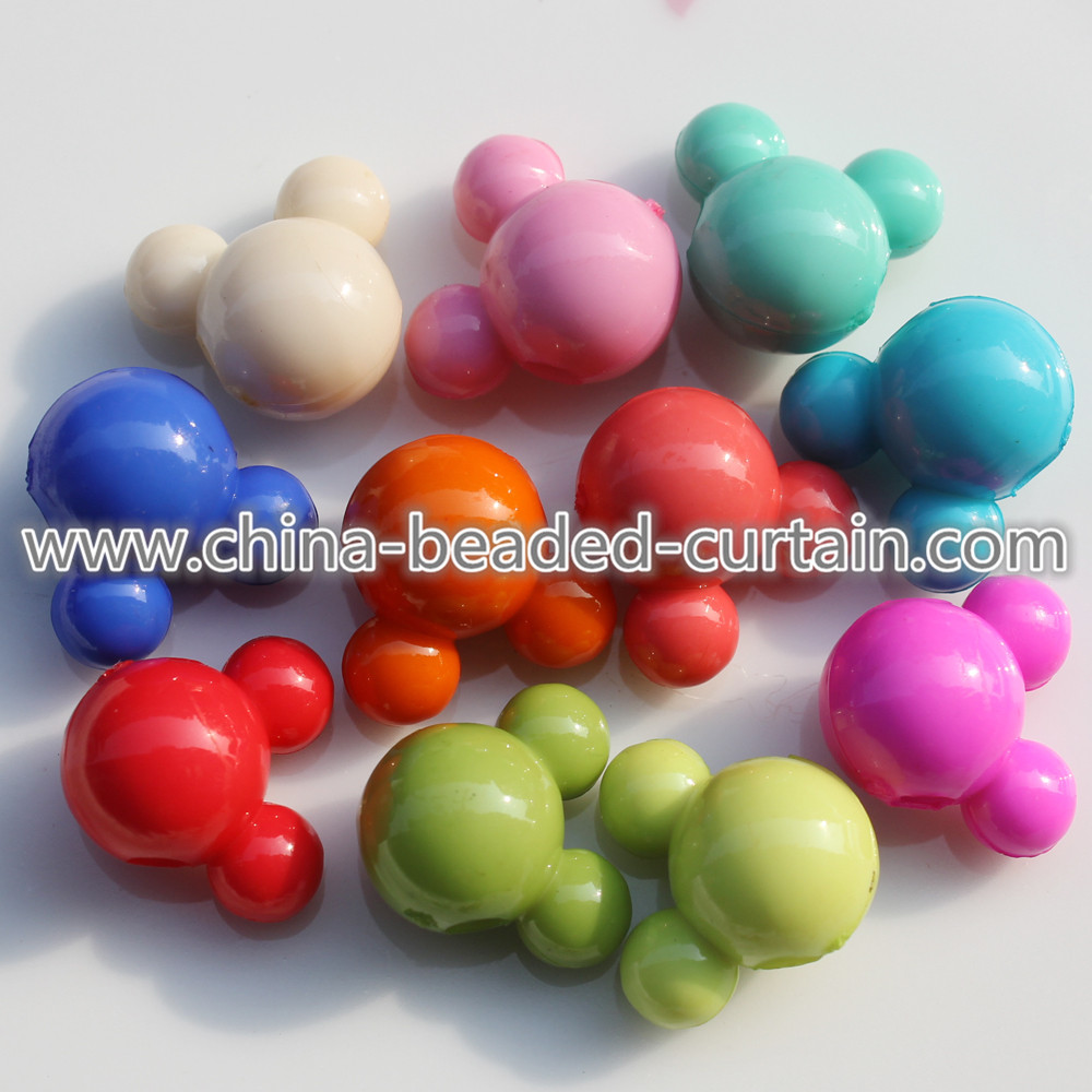 wholesale fashion 16MM acrylic solid color cute mouse charms plastic pretty kids pendant beads free samples