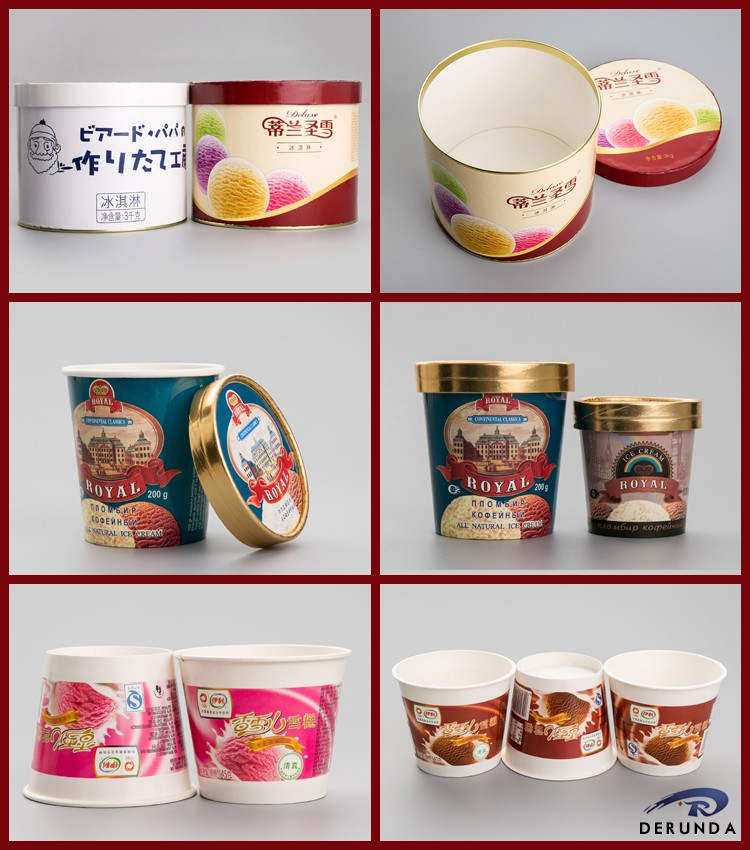 China Supplier Disposable 350ml Ice Cream Container Size With Free ...
