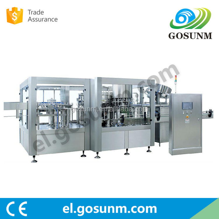 automatic bottle pure water liquid filling capping labeling production machine <strong>line</strong>
