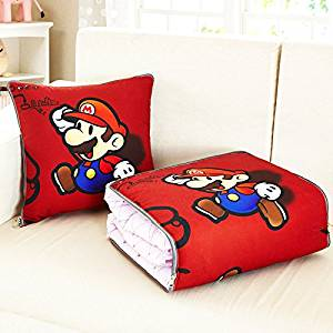 d2b2783a87 Get Quotations · USpiece Mario Pillow Blanket And Pillow 2 in 1
