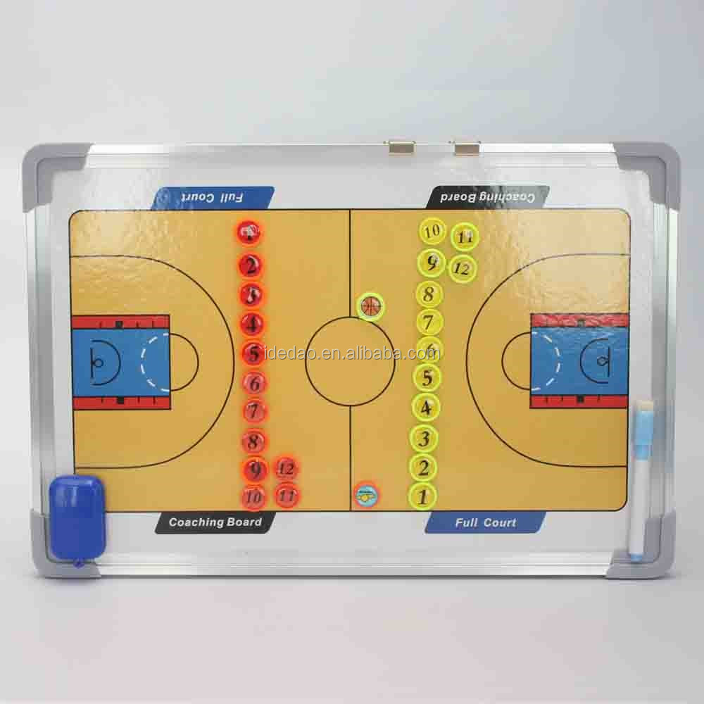 Coaching basketball tactics board basketball score board game magnetic tactics board