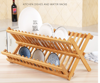 Bamboo Dish Drying Rack.Bamboo Dish Drying Rack Wooden Dish Rack With 2 Tier Folding Kitchen Utensil Holder Dryer Buy Wooden Dish Rack Kitchen Utensil Holder Kitchen Dryer