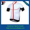 White sport wear of cycling jersey for young men made in china