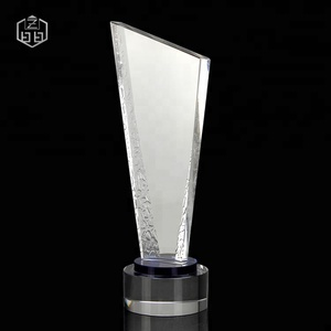 Factory Wholesale Good Design Glass Trophy Acrylic Award Blanks Wooden Blocks Awards