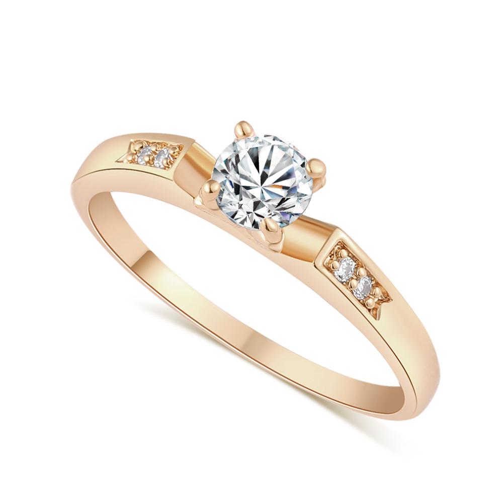 J1685C Carina Jewelry Wedding Ring 18k Gold Plated Polish