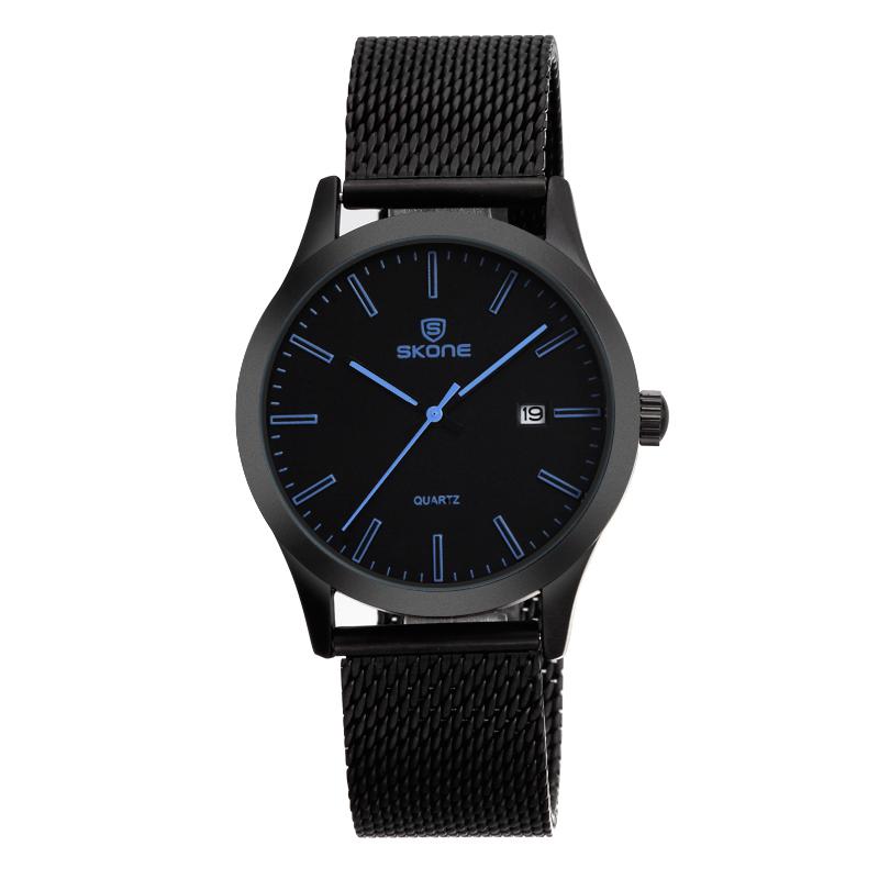 1b0e60d7bc2ab الصينية مصنع الساعات skone ماركة ip الأسود المنسوجة التاريخ ساعة ...