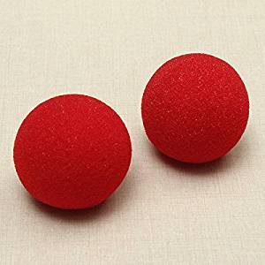 Pink Lizard 2PCS Close-Up Magic Street Trick Soft Sponge Ball Props Clown Nose