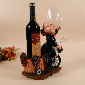 creative resin anime figure cartoon character wine rack