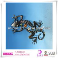 Metal wall deco Gecko animal wall decoration