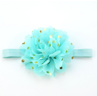 Fashional Fabric Flowers For Baby Shabby Flower Headbands/Flower Girls Hair Accessories/ Fancy Baby Shabby Flower
