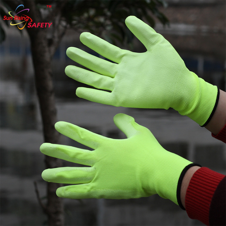 High Performance EN420 Nylon Pu Safety Gloves
