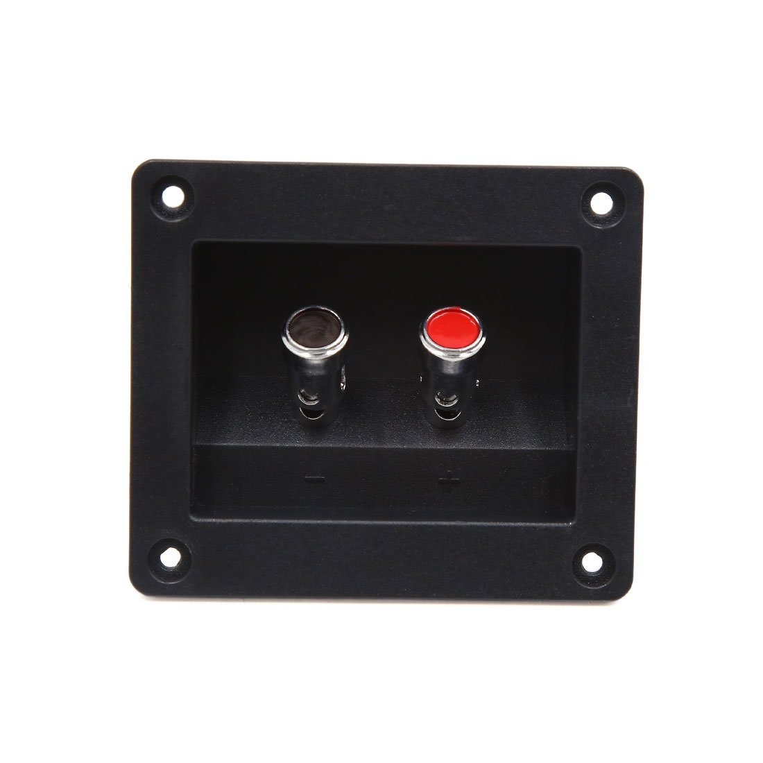 uxcell 2 Way Square Binding Post Speaker Box Terminal Cup Plate Connector Board for Car