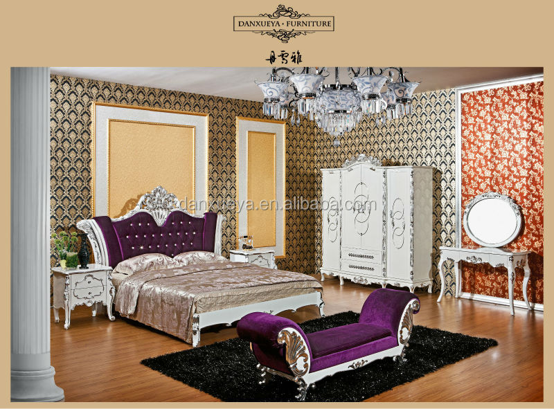 Br-02# European Royal Bedroom Furniture Sets Classic Bed/dresser ...