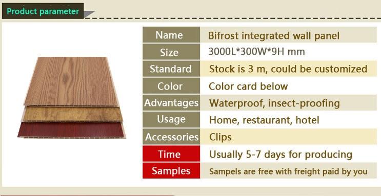 Merveilleux Moistureproof Easy Install Decoration Wpc Bamboo Fiber Wall Panel For  Interior Decor